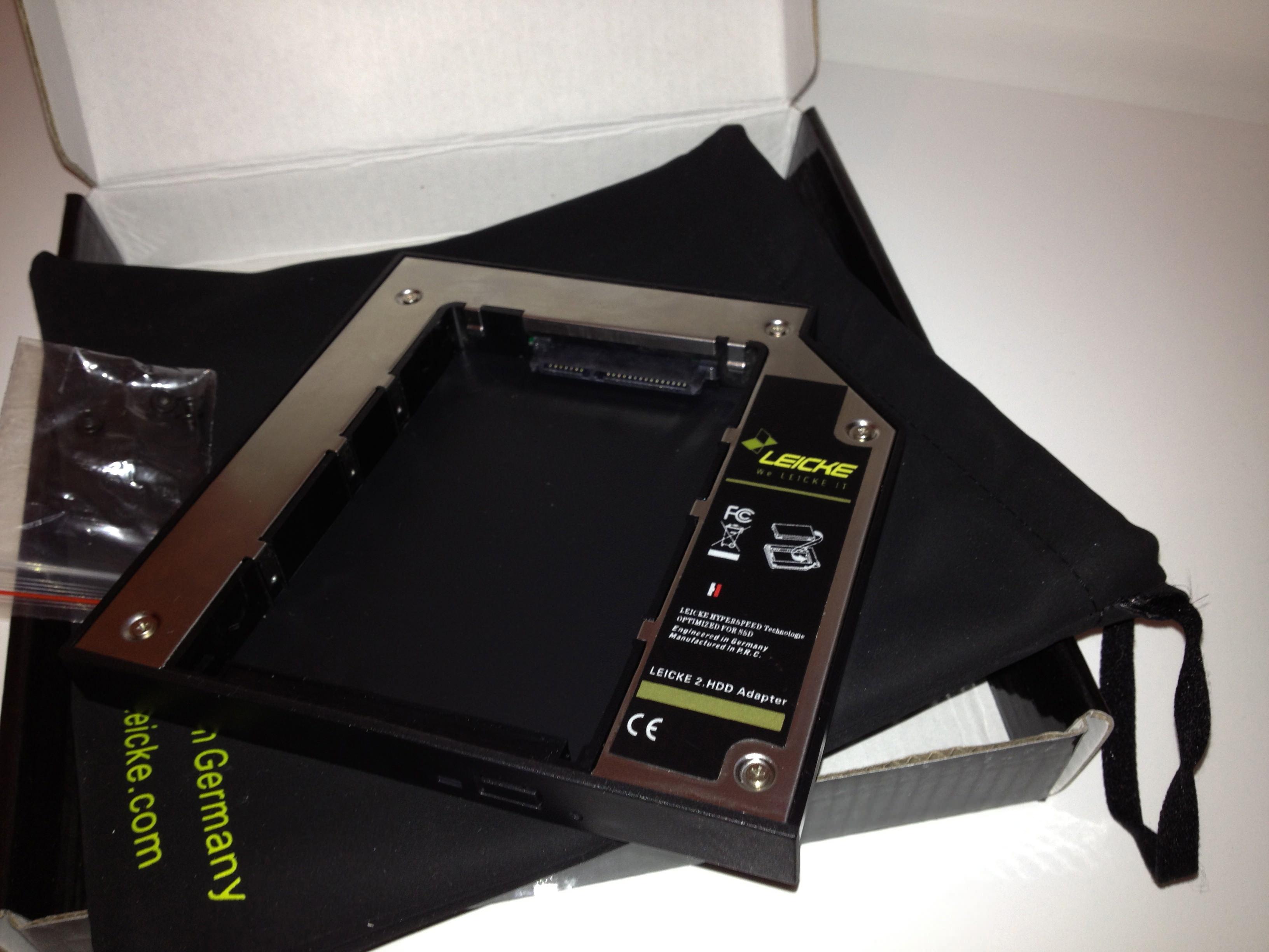 Recensione adattatore SSD universale SATA per Superdrive della Leicke