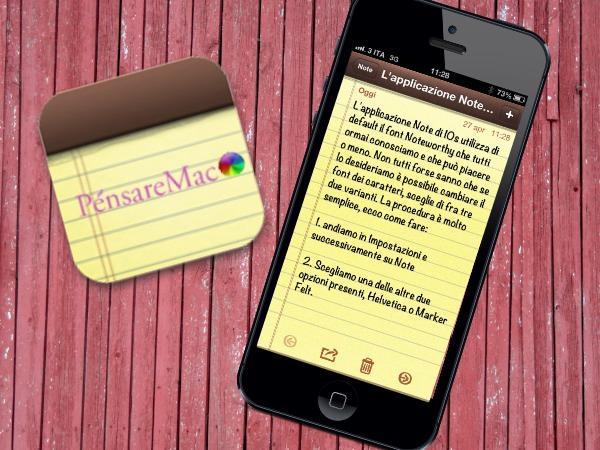 [Come si fà] Cambiare il tipo di font dell'applicazione Note su iPhone e iPad