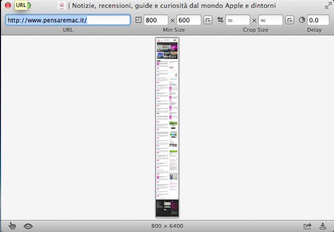 Fotografare il desktop su OS X