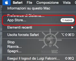 La sezione App Store nel menù 