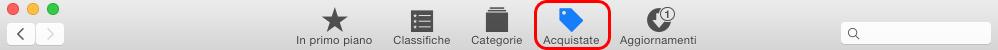 La sezione Acquistate dell'App Store