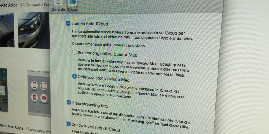 scaricare libreria foto icloud su mac