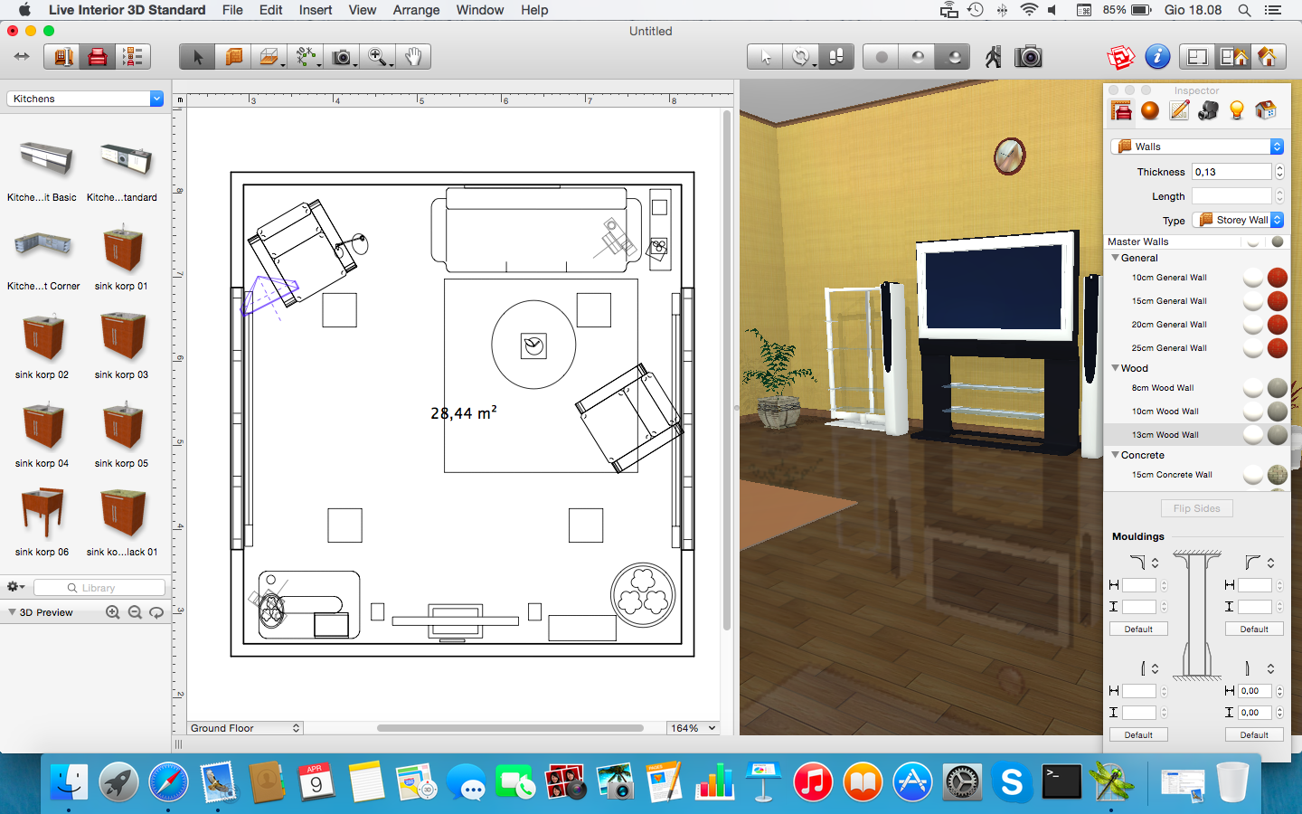 Recensione live interior design 3d per mac ottima app per for Disposizione seminterrato di design gratuito