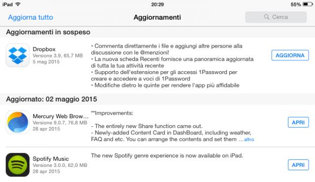 Dropbox per iOS si aggiorna alla versione 3.9 con tante novità