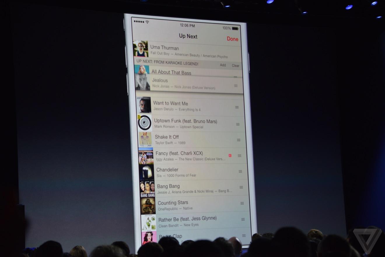 Demo di Apple Music
