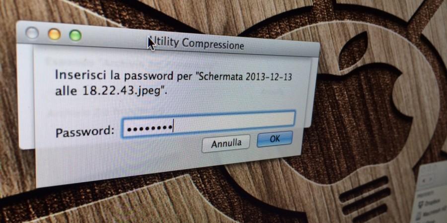 [Come si fa] Creare un archivio Zip protetto da password su Mac OS X