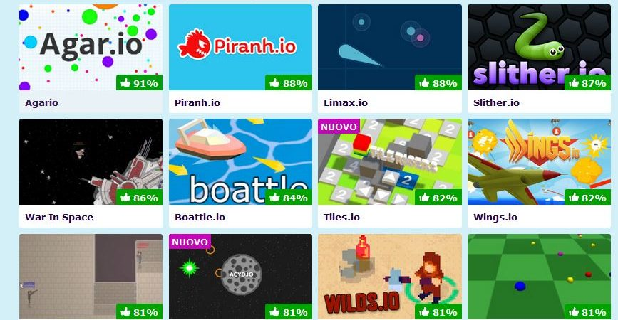 Su Poki.it la raccolta dei migliori giochi .io