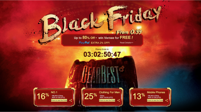 Sconti GearBest per il Black Friday