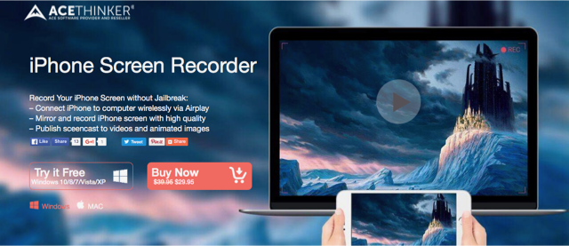 Recensione Acethinker iPhone Screen Recorder